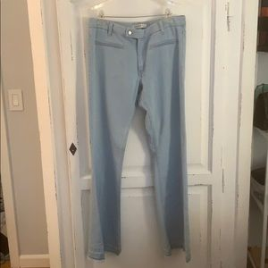 Zara Light Wash Flare Jeans